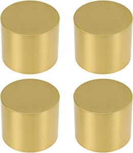 Geesatis 4 Pcs Copper Gold Table Sofa Cabinet Legs Cover Cap Pad Round Furniture Legs Protector Cover, 1.4 x 1.2 inch / 35 x 30 mm