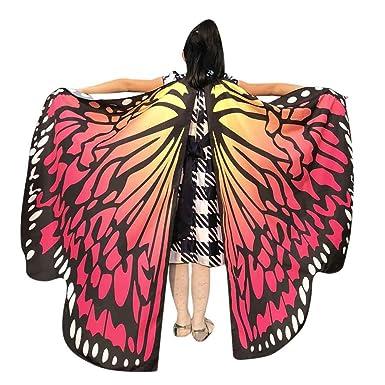 autentico colori e suggestivi scegli il più recente Elecenty Farfalla Ali Scialle Sciarpe, Butterfly Wing Scialle con Neckband  & Fingerband Costume Accessorio