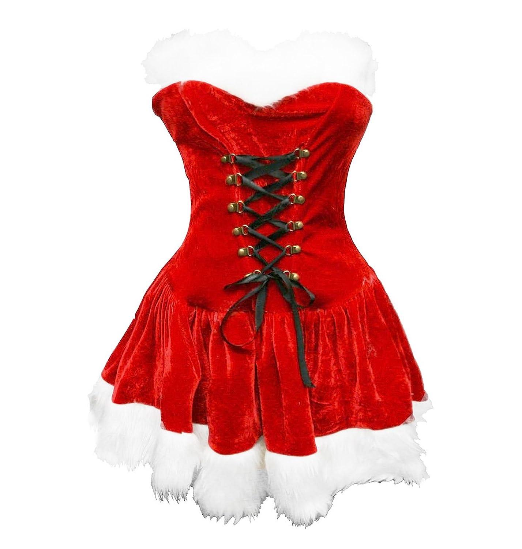 BSLINGERIE? Trendy Santa Claus Christmas Costume Dress and Hat