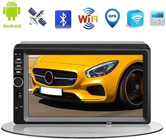 XMZWD Android Car Radio GPS Navegación 7 Pulgadas HD Pantalla Táctil, GPS Coche con Bluetooth Manos Libres/HD 1080p/ WiFi/FM Radio/Control del Volante/Imagen Inversa, Navegador GPS: Amazon.es: Hogar