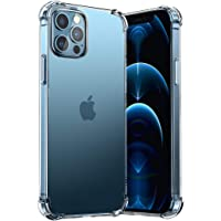 T Tersely Clear Case Cover for Apple iPhone 12 Pro Max(6.7 inch), Air Hybrid Slim Fit Shockproof Crystal TPU Bumper…