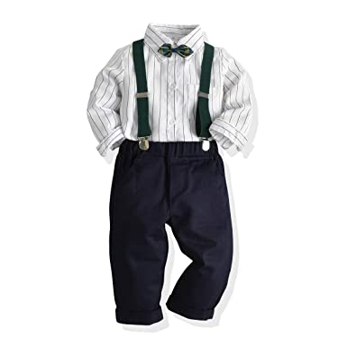 Ropa para niños Boy Camisa de Manga Larga a Rayas Blancas ...