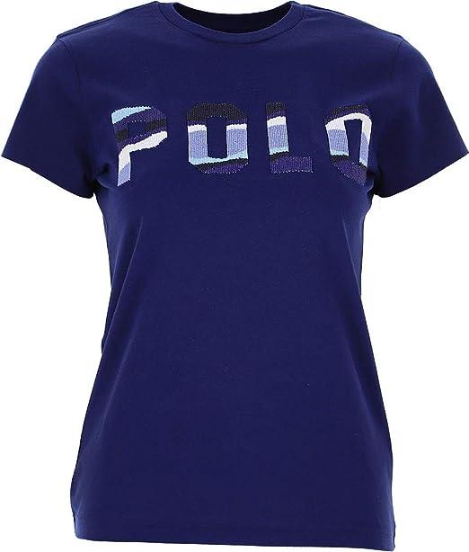 Polo Ralph Lauren T-Shirt BLU con Logo frontale 211784466002 BLU ...