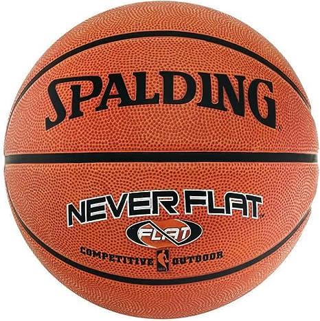 Balón de baloncesto para exterior Spalding NBA Neverflat: Amazon ...