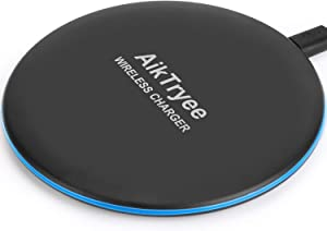 Wireless Charger, Wireless Charging Pad Qi-Certified 10W Max Fast for iPhone SE 2020 11 Pro 11 Pro Max Xs Max XR XS X 8 Plus AirPods, Galaxy S20 S10 S9 S8 Note 10 9 8 by AikTryee.