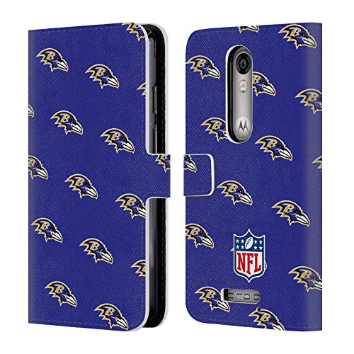 - Official NFL Patterns 2017/18 Baltimore Ravens Leather Book Wallet Case Cover for Droid Turbo 2 / X Force