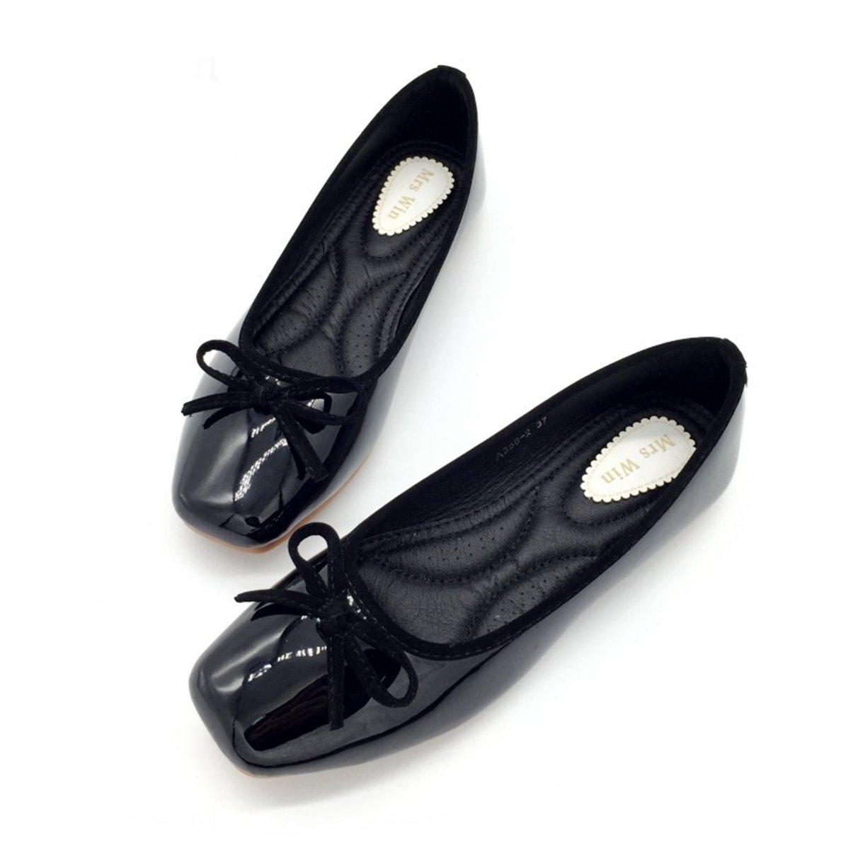 Owen Moll Women Flats, Ballet Loafers Slip-On Single Shoes PU Ladies Females Footwear