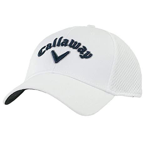 Amazon Com Callaway Golf Hat Mesh Fitted Xxl White Navy Silver