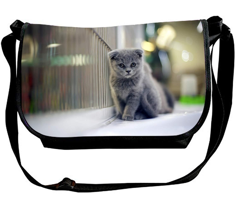 Rottweiler and Snow Print Waterproof Casual Shoulder Bag Crossbody Bags for Men & Women
