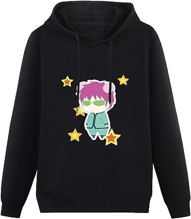 Anime & Saiki K Cute Illustration with Stars Classic Joker Hoodie Mens Boys Girs Pattern Pullover