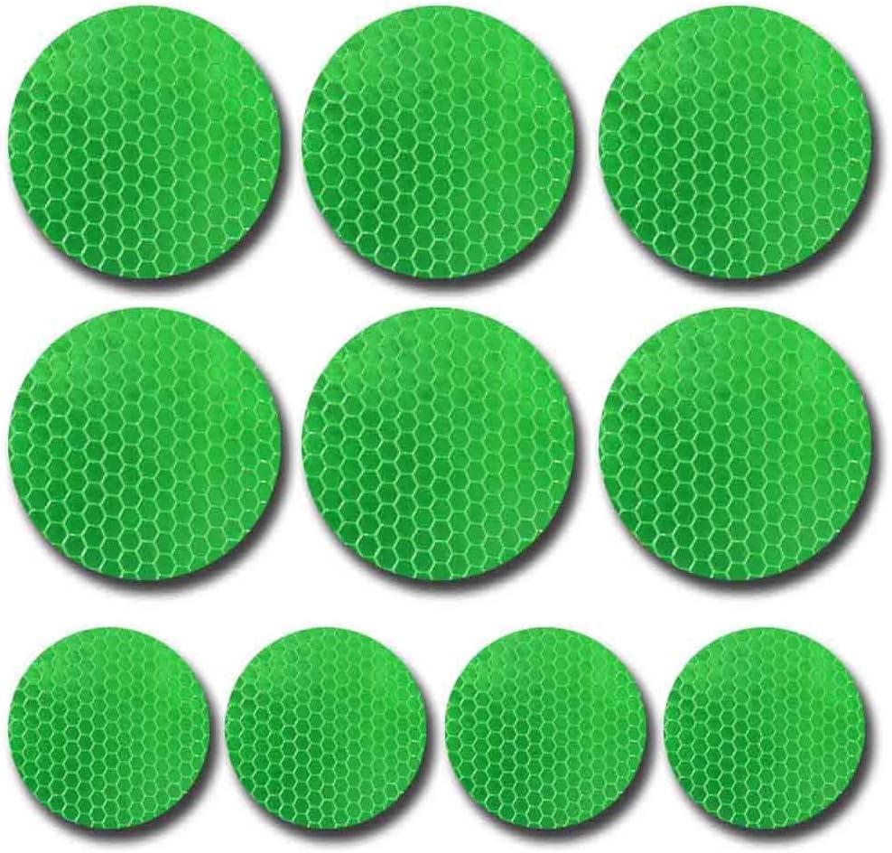 10pcs 60mm Verkehr Warnung Band Reflektor Band Grüne Für Autos Lkw Colthes Mauer Reflektierendes Klebeband Wasserdicht Baumarkt
