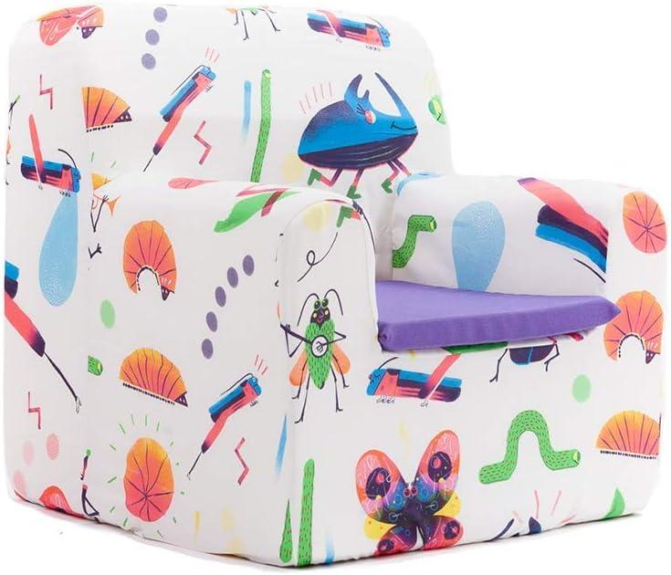 Sillita para recién nacidos desenfundable lavable resistente cómodo decoracion muebles niños Fabricado en España Varios Dibujos Estampados Tamaño único Edad 0 a 4 años (Bugs Party)