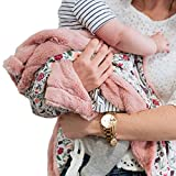 Minky Super Soft Baby Blankets, Receiving Blankets with Floral Garden Printed Design by Graced Soft Luxuries