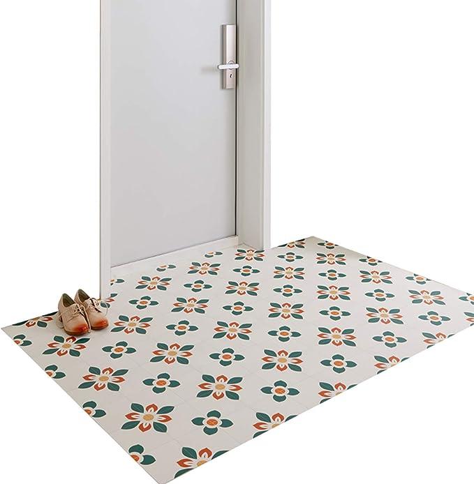 Jiajuan Front Doormat Indoor Doorway Kitchen Balcony Waterproof Ultra Thin Cuttable Floor Mat 2 Mm 2 Styles 6 Sizes Color B Size 45x75cm Amazon Co Uk Garden Outdoors
