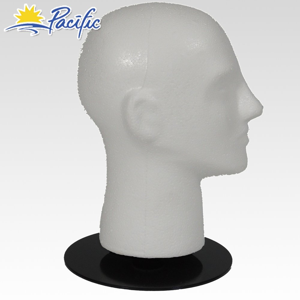 "Male MANNEQUIN 11/"" head with holder base display wig hat glasses"