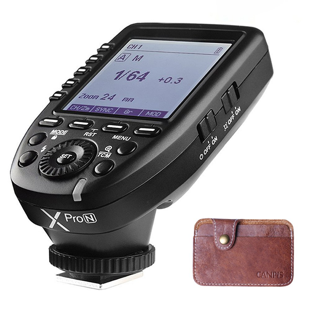 Godox Xpro-N 2.4G Wireless Flash Trigger Transmitter for Nikon with i-TTL HSS 1/8000s TMC Big LCD Screen 5 Dedicated Group Buttons 11 Customizable Functions