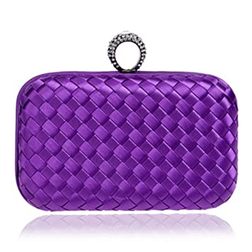 5eb7717b7e Finger Ring Diamonds Women Evening Bags Candy Small Day Clutches Handbags  Knitted Material Fashion Wedding Purse