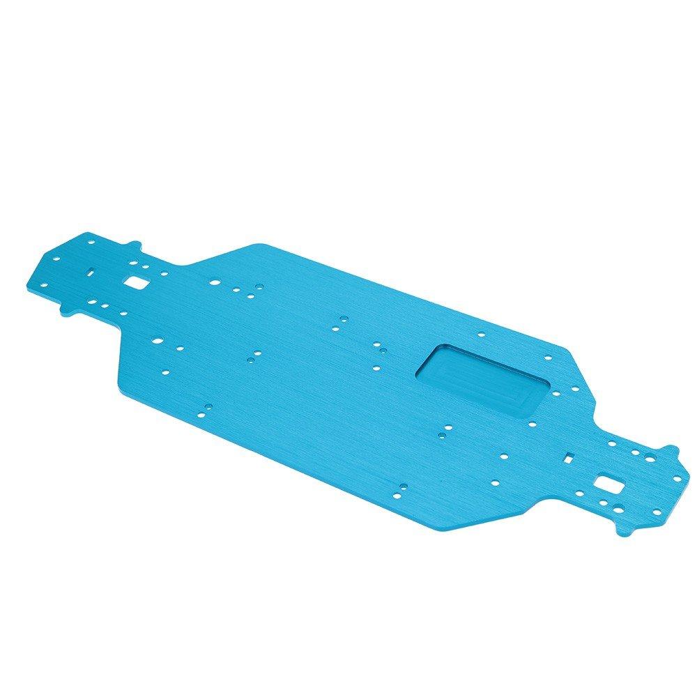 03001 Chasis de Aluminio para HSP 1/10 RC Coche Modelo Pieza de Actualización Repuesto - Azul