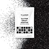 Glitter Grout Tile Additive 150g/5.3oz Glitter for Wall/Floor Tile Grout-DIY Home Wet Room Bathroom Kitchen Sparkle, Add/Mix with Epoxy Resin or Cement Based Grout (150g/5.3oz, Black)