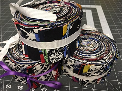 (Vintage Characters ~ Star Wars Jelly Roll (24 Strips) ~ 100% Cotton Fabric)