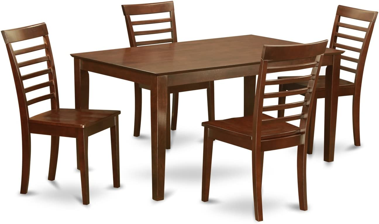 CAML5-MAH-W 5 PC Dining room set for 4-Table and 4 Dining Chairs