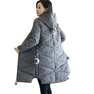 Lang Wintermantel Damen Briskorry Frauen Elegant Warme
