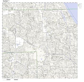 Amazon.com: Des Plaines, IL ZIP Code Map Laminated: Home ...