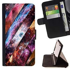 Dragon Case- Caja de la carpeta del caso en folio de cuero del tir¨®n de la cubierta protectora Shell FOR Samsung Galaxy A3 a3000- Space Wood