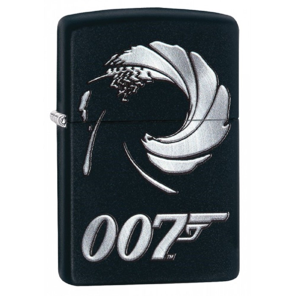 Personalized Message Engraved Customized Celebrities Zippo Lighter Indoor Outdoor Windproof Lighter (James Bond 007)
