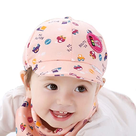 Ziory 1Pcs Pink Baby Kid Boy Girl Snapback Cartoon printing Toddler Infant  Hat Little Car Baseball Beret Cap Baby girls and Baby boys  Amazon.in   Clothing   ... 26d5aca2ac12