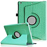 Fintie iPad mini 1/2/3 Case - 360 Degree Rotating Stand Case Cover with Auto Sleep / Wake Feature for Apple iPad mini 1 / iPad mini 2 / iPad mini 3, Crocodile Turquoise