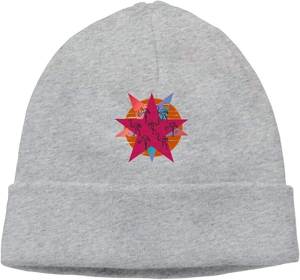 Pentagram Flamingo Beanie Knit Hats Skull Caps Mens