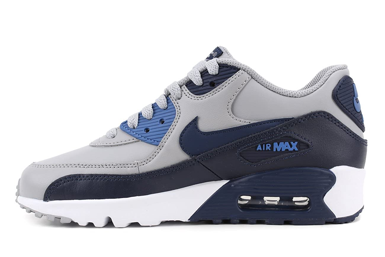 finest selection 9ec9a c4288 Amazon.com   Nike Air Max 90 LTR (GS) Big Kids Shoes Wolf Grey Binary Blue  833412-009 (7 M US)   Running