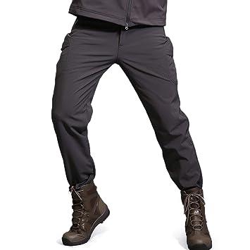 9825c9d55a9ae Freiesoldaten Homme Polaire Softshell Doublé Imperméable Pantalon Randonnée  Ski Hiver Chaud Pantalons De Plein air