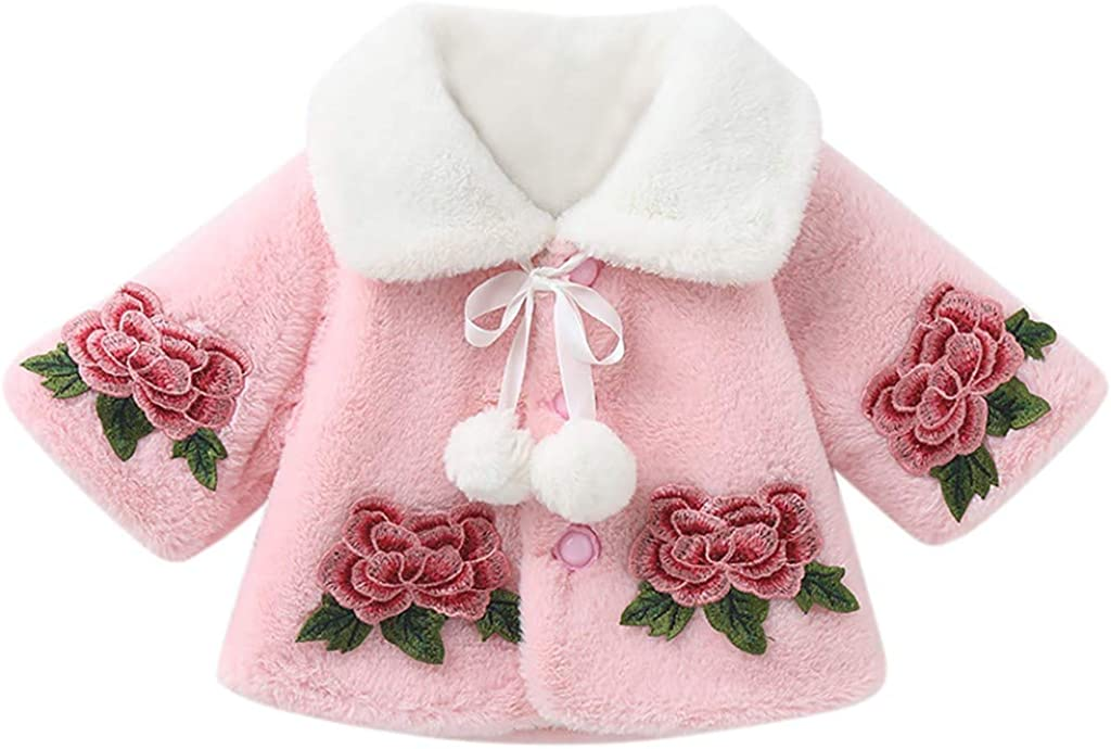 IFOUNDYOU 2020 New Baby Girls Coat Long Sleeves Cloak Velvet Outerwear Octopus Collar Sweater Jacket Furry Clothes Thick Warm Winter Coats Kids Cute Fashion Kawaii Clothing Sales