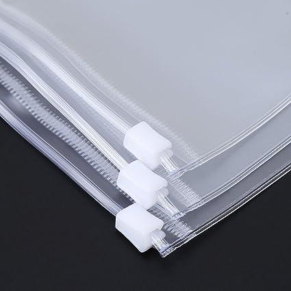 Amazon yaonow clear pvc storage bag pouch for notebook diary yaonow clear pvc storage bag pouch for notebook diary day planner zipper business cards a7 colourmoves