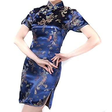 Damen Cheongsam Qipao Kleid - Frauen Seide China Qipao Cheongsam ...