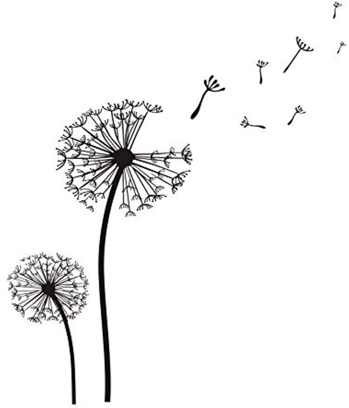 Amazon com fsds wall vinyl decal dandelion art sticker pvc removable mural self adhesive paper kids room home decor cute dandelion stickers home kitchen