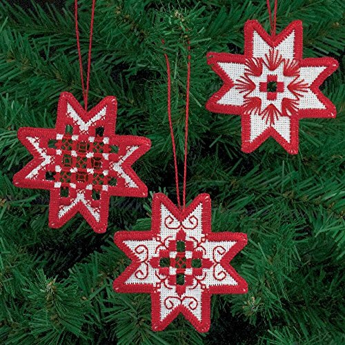 Permin Star Ornaments Hardanger Kit