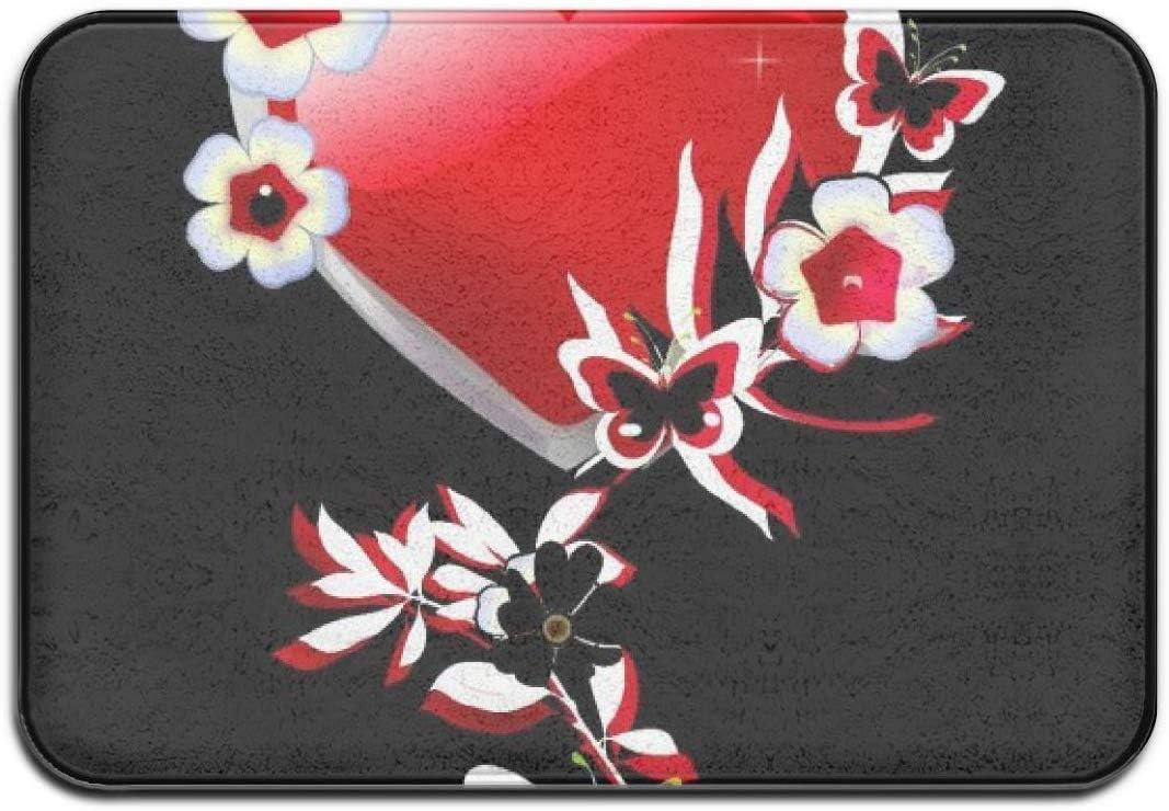 Xinfub Indoor Door Mat 16 X 24 Red Heart Doormat Outdoor Absorbent Mat Easy Clean Garage Patio Floor Mat Amazon Co Uk Kitchen Home