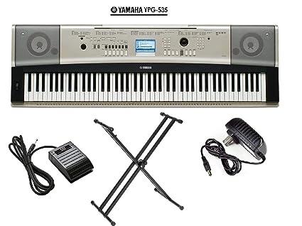 Amazoncom Yamaha Ypg 535 Portable Grand Piano Keyboard 88