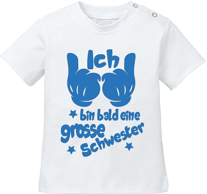EZYshirt/® Ich bin bald eine grosse Schwester Baby T-Shirt