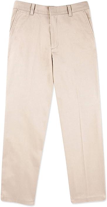 dadc2f9f730bd8 Amazon.com: George Boys' School Uniform - Flat Front Pants (Regular ...
