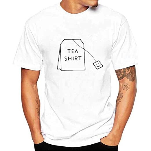 6e2f713f0 2018 Simple Creative Design Tea Bag Printing Cotton T Shirts New Arrival  Summer Short Sleeve Shirts at Amazon Men's Clothing store: