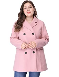 e03ee8a8a29 Steve Madden Women s Plus-Size Single Breasted Wool Coat at Amazon ...