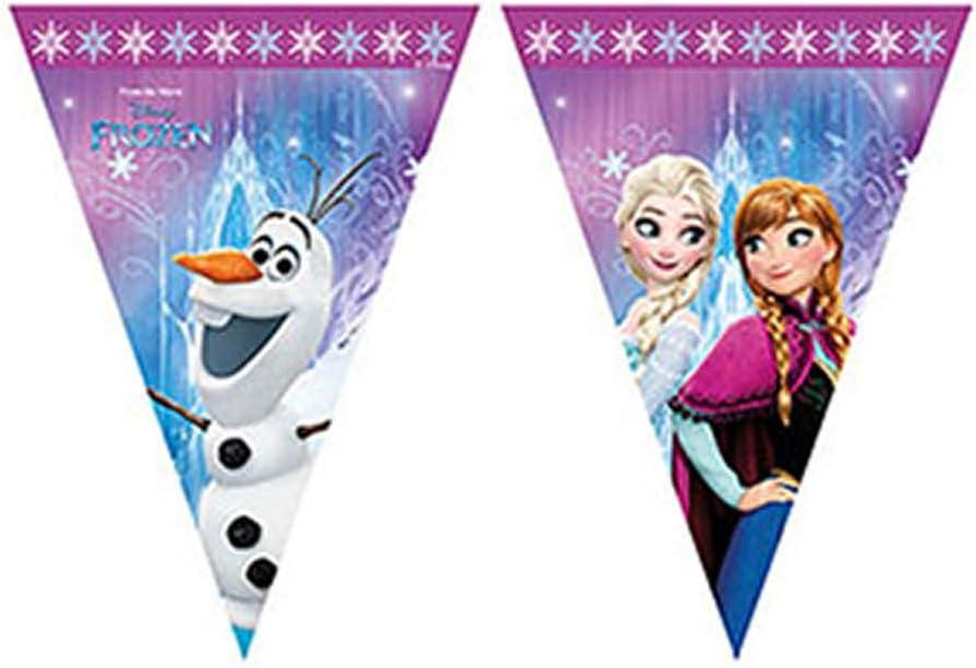 Procos 86921– Guirnalda de banderillas de Disney Frozen Northern Lights, multicolor.