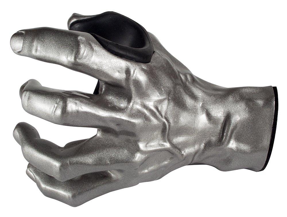 GuitarGrip LHGH-101 Male Standard Grip, Left-Handed, Silver Metallic