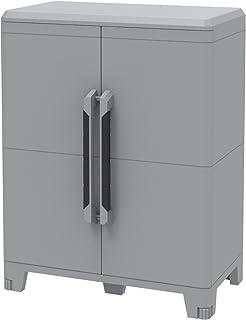 Terry Transforming Modular 3, Armadio multifunzione in plastica a due porte, grigio, 78 x 43.6 x 143 cm