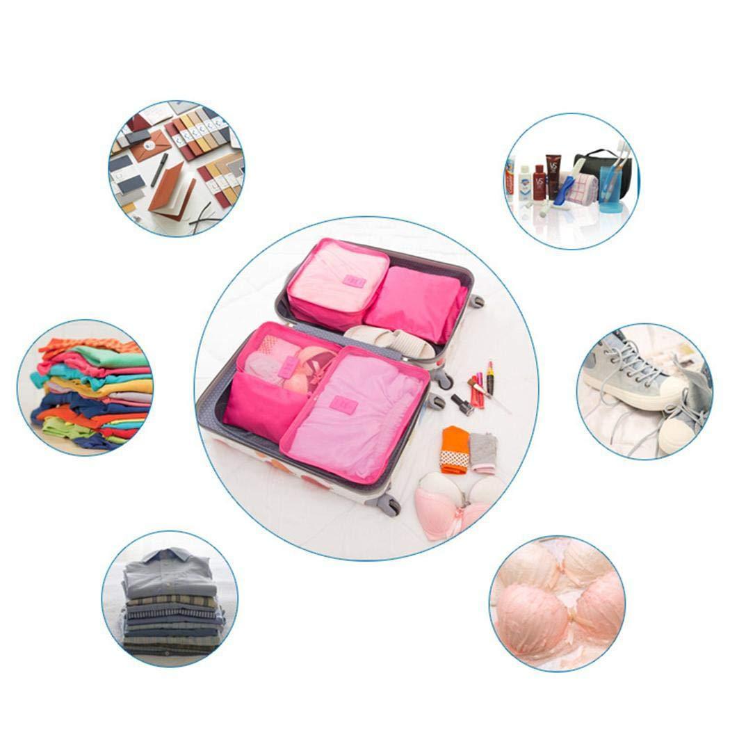 Idomes 6 Set Packw/ürfel mit Schuhbeutel Reisegep/äck-Organizer