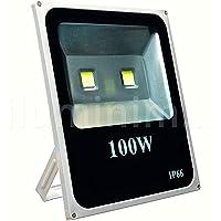 Refletor Holofote LED 100w Branco Frio Jardim Fachada